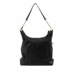 Gucci GG Embossed Apollo Leather Shoulder Bag