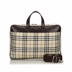 Burberry House Check Nylon Business Bag