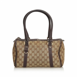 Gucci ssima Canvas Boston Bag
