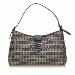 Fendi Zucchino Canvas Shoulder Bag