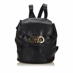 Salvatore Ferragamo Gancini Leather Backpack