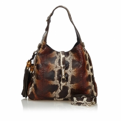 Gucci Python New Jackie Tassel Shoulder Bag