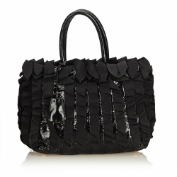 Prada Gathered Nylon Tote Bag