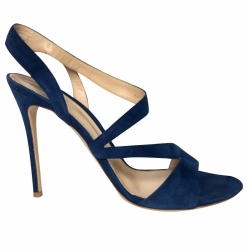 Gianvito Rossi Blue suede sandals