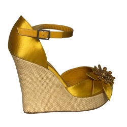 Lerre Yellow compensated sandals