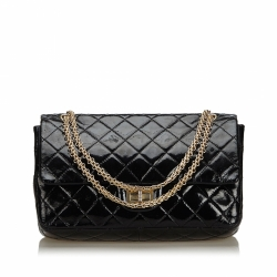 Chanel Reissue 227 Quilted Patent Leather Double Flap Bag