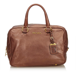 Prada ON SALE!!! Vitello Daino Bauletto Bag