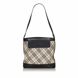 Burberry Nova Check Canvas Shoulder Bag