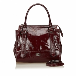 Burberry Patent Leather Handbag
