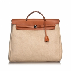 Hermès Canvas Herbag MM Satchel