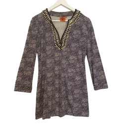 Tory Burch Beaded Silk Tunic Top
