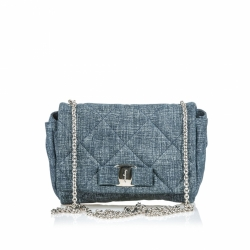 Salvatore Ferragamo Quilted Painted Suede Gelly Crossbody Bag