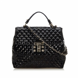Chanel Quilted Patent Leather Satchel