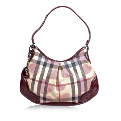 Burberry Hearts House Check Shoulder Bag
