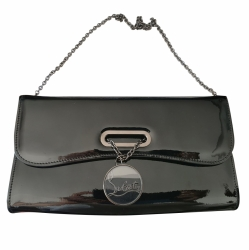 Christian Louboutin Riviera Clutch in patent calf leather
