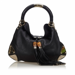 Gucci Leather Indy Hobo Bag