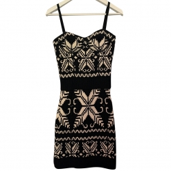 Dolce & Gabbana Fair Isle Bodycon Sweater Dress