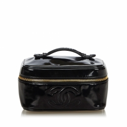 Chanel Patent Leather CC Vanity Bag