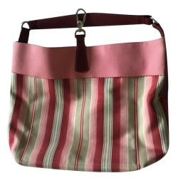 Longchamp Pink summer canvas bag