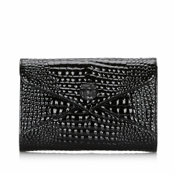 Yves Saint Laurent Embossed Patent Leather Clutch