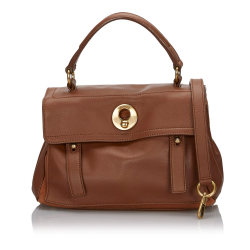 Yves Saint Laurent Leather Muse Two Satchel