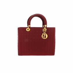 Christian Dior Lady Dior Red Bag
