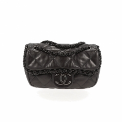 Chanel Chain Me Bag Mini Flap Dark Grey Calfskin