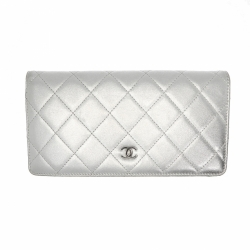Chanel Wallet in silver leather