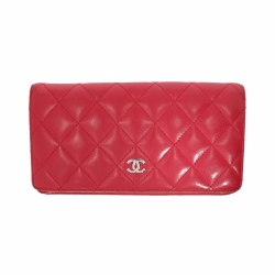 Chanel wallet in fuchsia leather