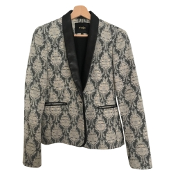 Maje Leather blazer jacket