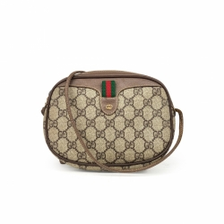 Gucci Vintage GG Plus Web Crossbody Bag