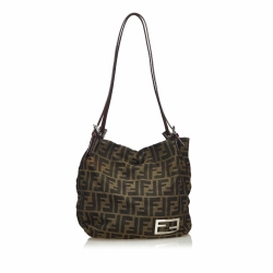 Fendi Zucca Canvas Shoulder Bag