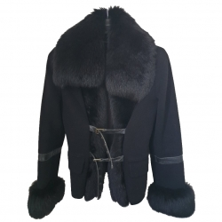 Flavio Castellani wool, cashmere and fur coat