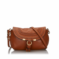 Chloé Small Leather Marcie Crossbody Bag