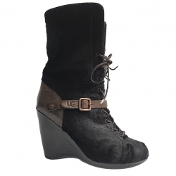 UGG Collection Laced ankle boot with wedge heel