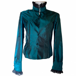 Matthew Williamson Emerald Silk Blouse