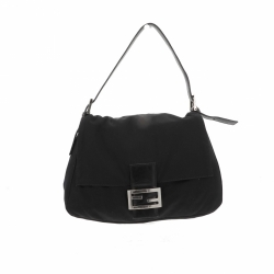 Fendi Mamma Baguette in black jersey