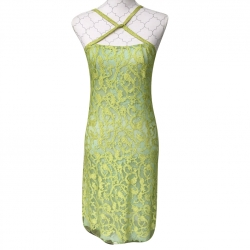 Christian Lacroix Cocktail dress green yellow lace