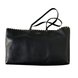 Valentino Black Shopping Bag