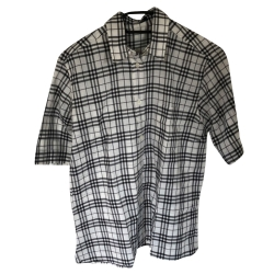 Burberry Oversized Burberry shirt with short sleeves in Vintage check cotton