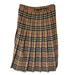 Burberry Pleated Burberry skirt in vintage check wool