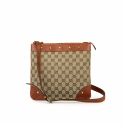 Gucci GG Canvas Nailhead Messenger Bag