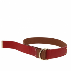 Fendi belt in red and brown fabric