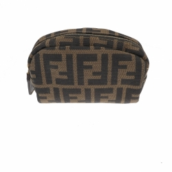 Fendi Zucca purse in brown fabric