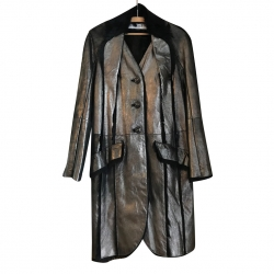 Christian Dior Leather and fur coat