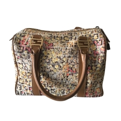 Fendi Multicolor Floral Zucca Forever Canvas Bauletto Boston Bag 8BL068