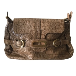 Jimmy Choo Croc embossed handbag