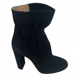 Chloé Black suede boots with 9 cm heel
