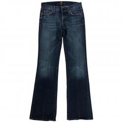 7 For All Mankind Blue Jeans Stiefel Schnitt 27