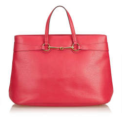 Gucci Horsebit Leather Bright Bit Tote